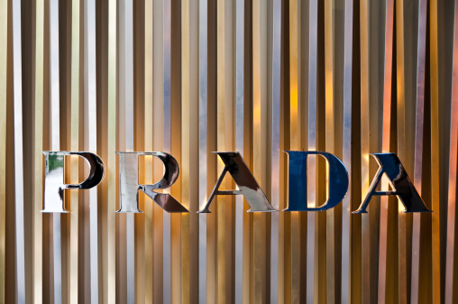 Singapore, Singapore - June 9, 2011: Photograph of the Prada logo outside a shop in Singapore