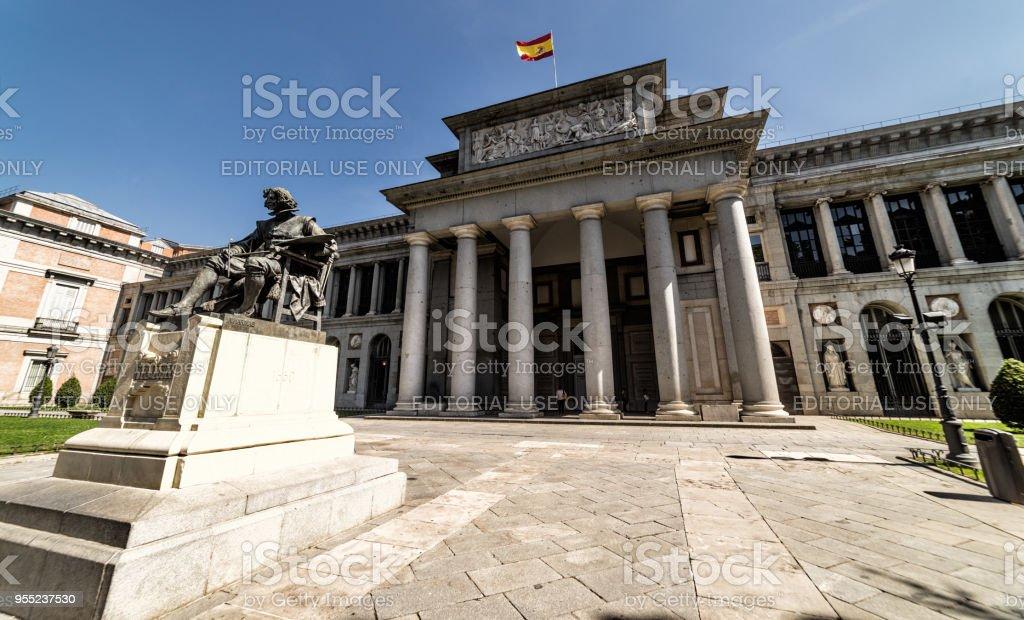 The Prado, art museum in Madrid Spain stock photo