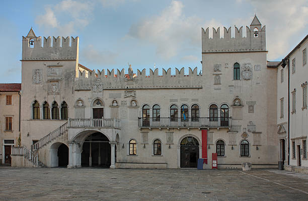 The Praetorian Palace, Gothic palace in the city of Koper stock photo