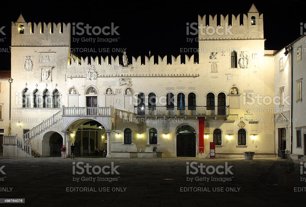 The Praetorian Palace, Gothic palace in the city of Koper stock photo