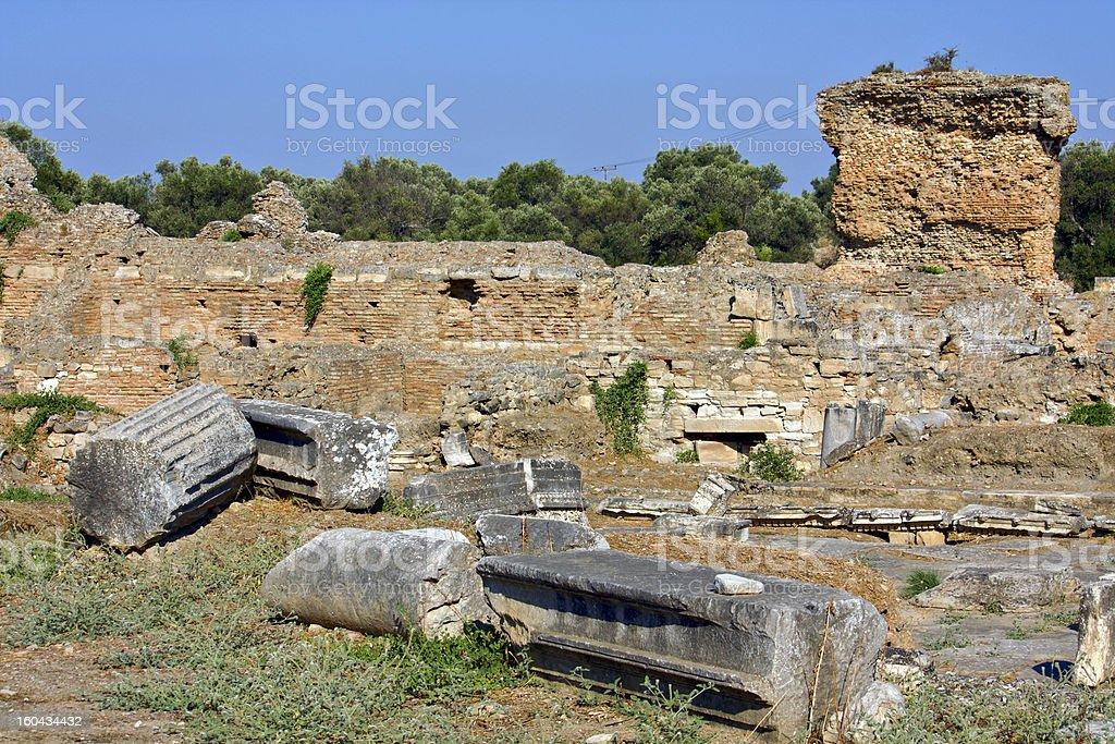 The Praetorium, ancient Gortyna, Crete island, Greece stock photo