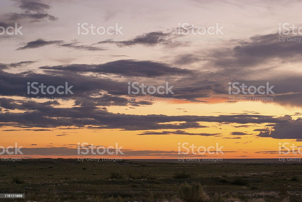 the prairie sunset royalty-free stock photo