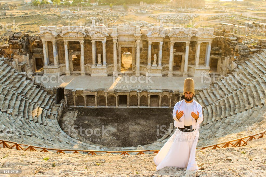 The pray of a dervish...Hierapolis royalty-free stock photo