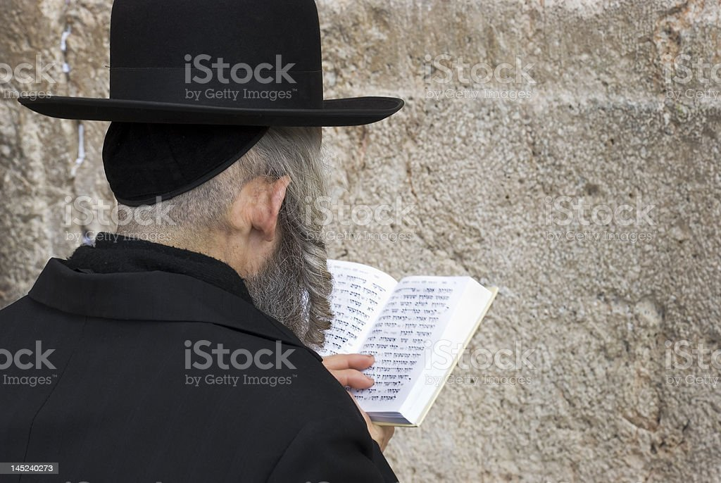 The prays in western wall royalty-free stock photo