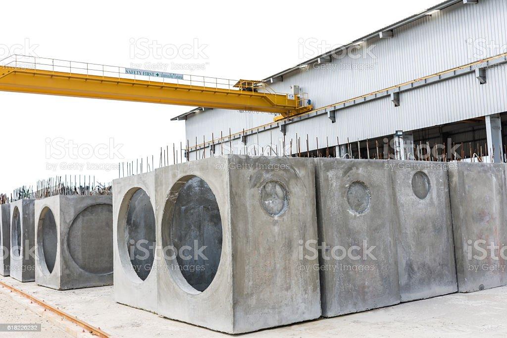 The precast concrete manholes – Foto