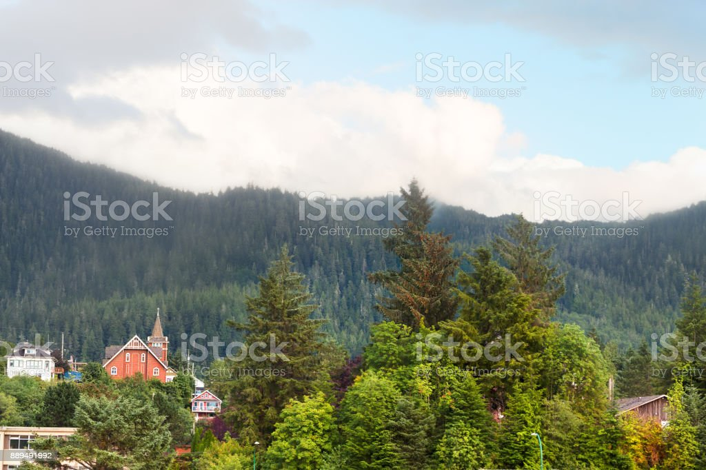 The Presbyterian Church First at Prince Rupert, British Columbia. stock photo