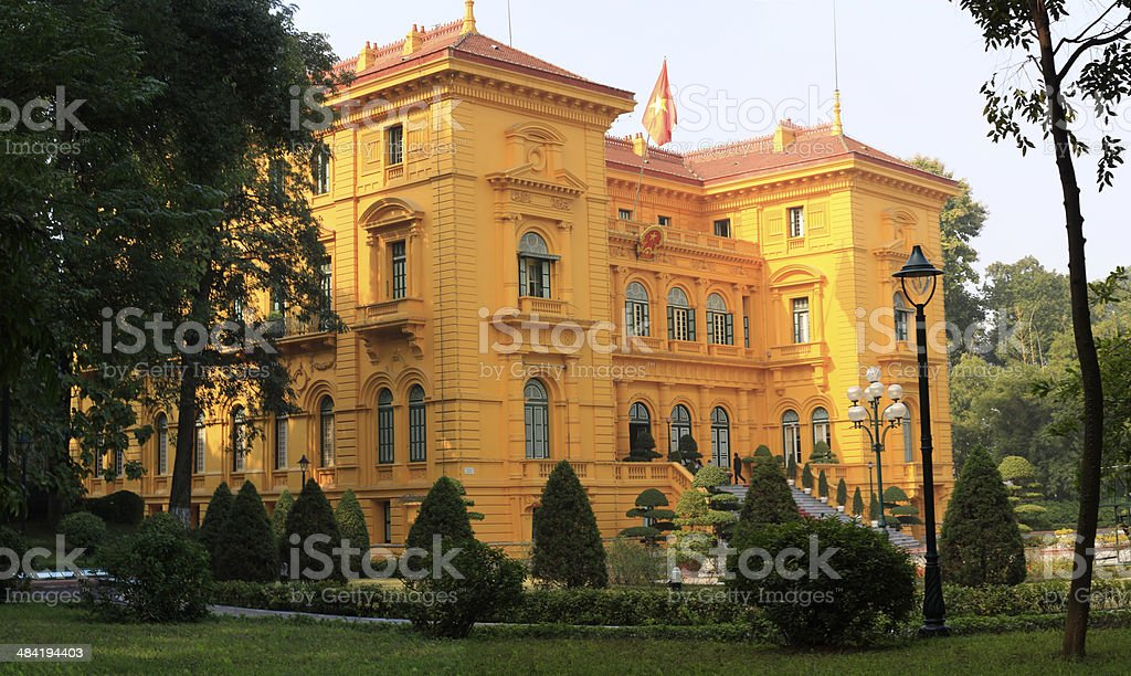 The Presidential Palace of Vietnam stock photo