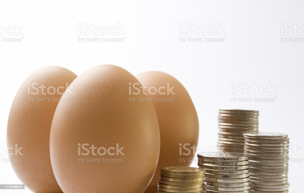 The price of food royalty-free stock photo