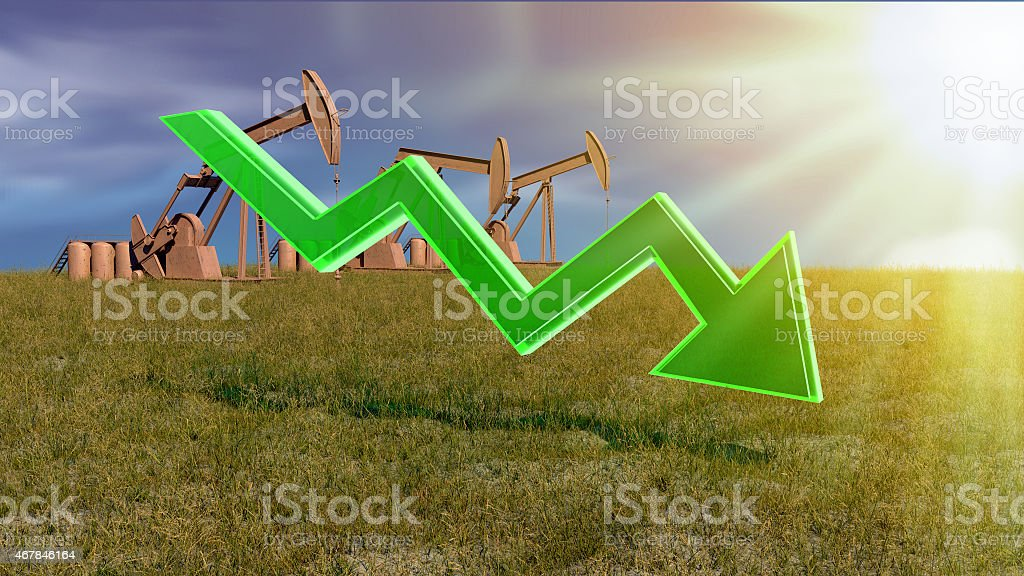 the price of fuel decreases stock photo