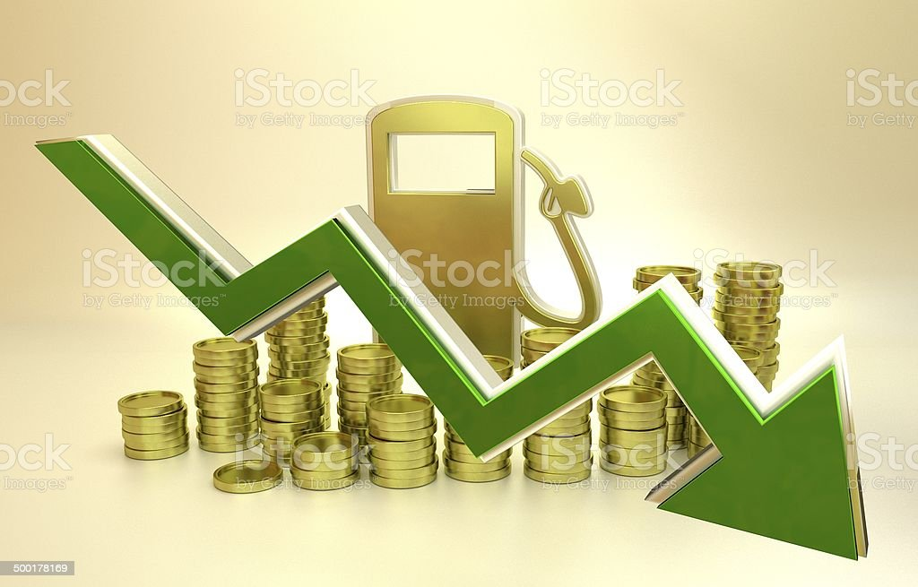 the price of fuel decreases royalty-free stock photo