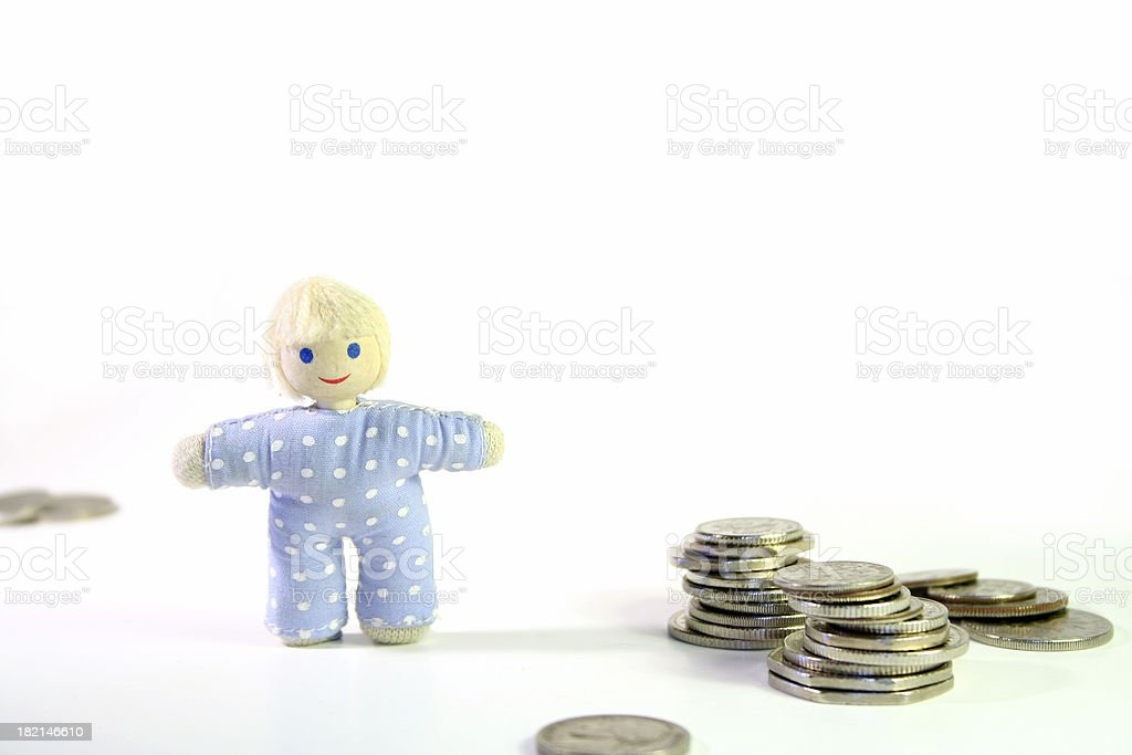 The Price of Having Children royalty-free stock photo
