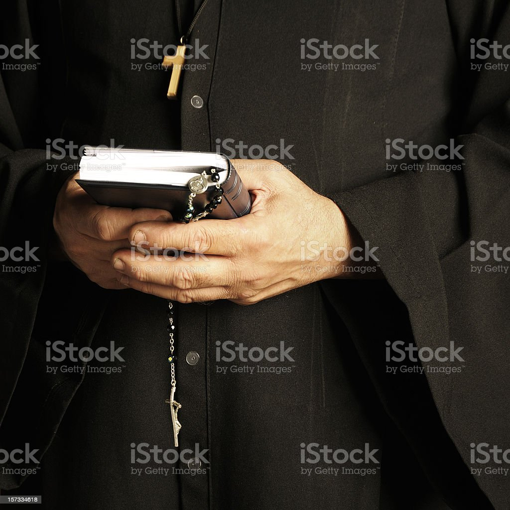 The Priest stock photo