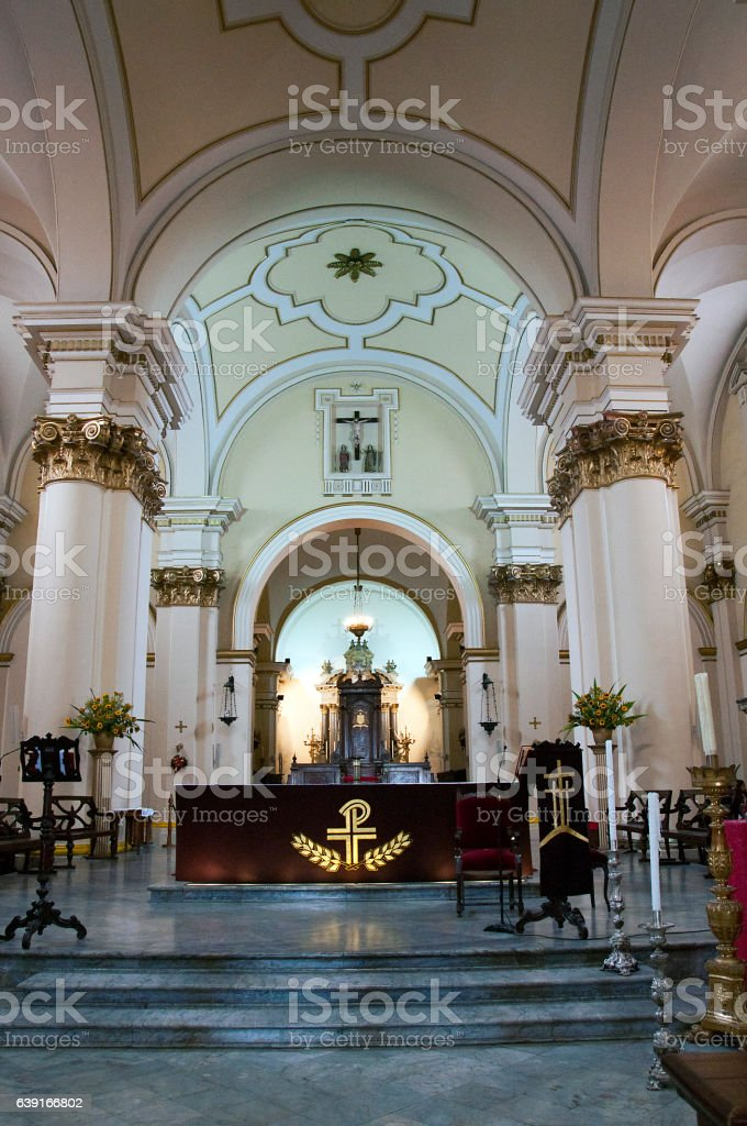 The Primada Cathedral of Bogota, Colombia stock photo