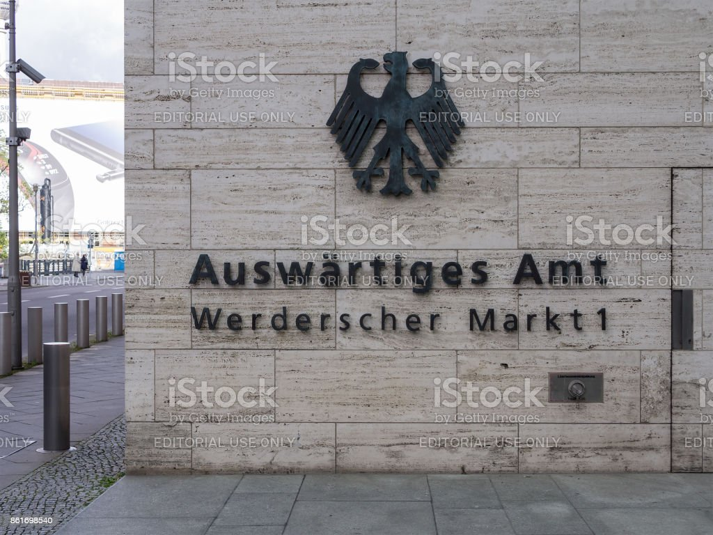 The Primary Seat of The German Federal Foreign Office In Berlin, Germany stock photo