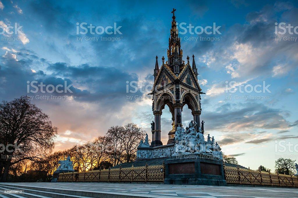 The Prince Albert Memorial, Hyde Park area, London, UK stock photo