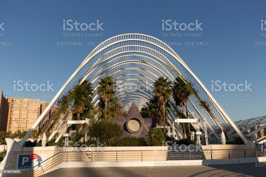 The Prince Felipe Science Museum a Spanish stock photo