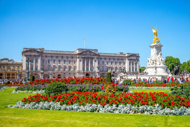 The principal facade of Buckingham Palace stock photo