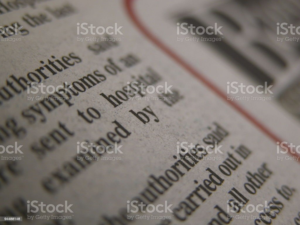 The Printed Page royalty-free stock photo