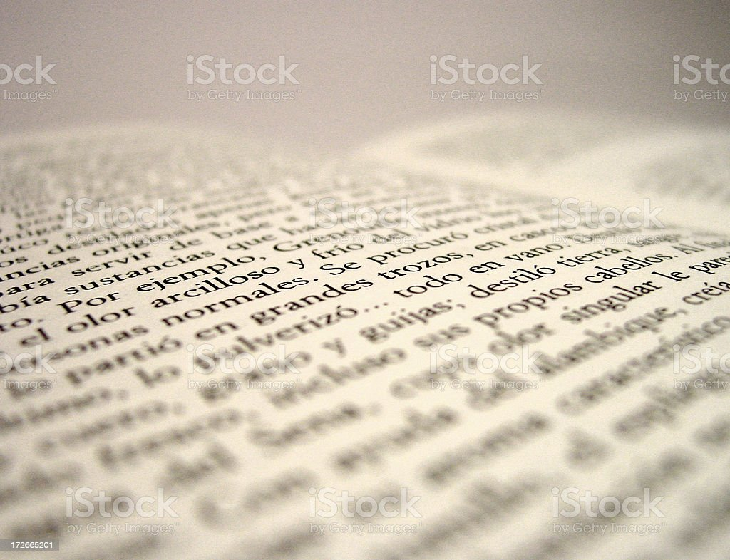 the printed word 3 royalty-free stock photo