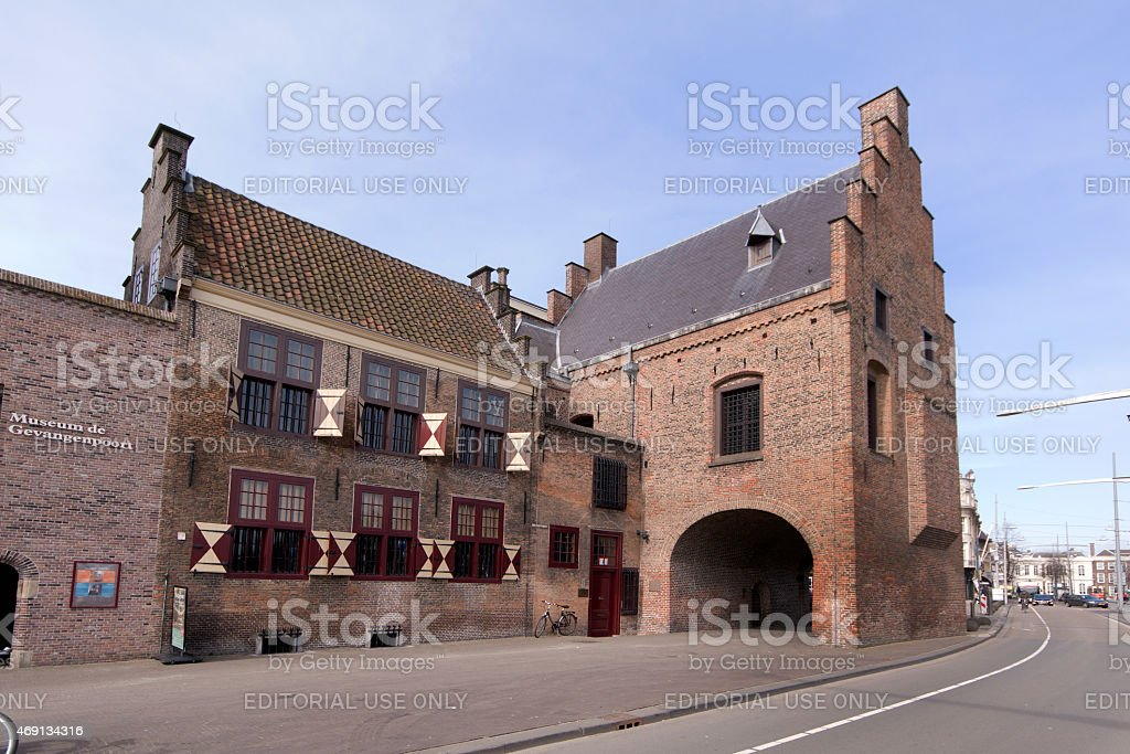 The Prison is a medieval prison in The Hague. stock photo