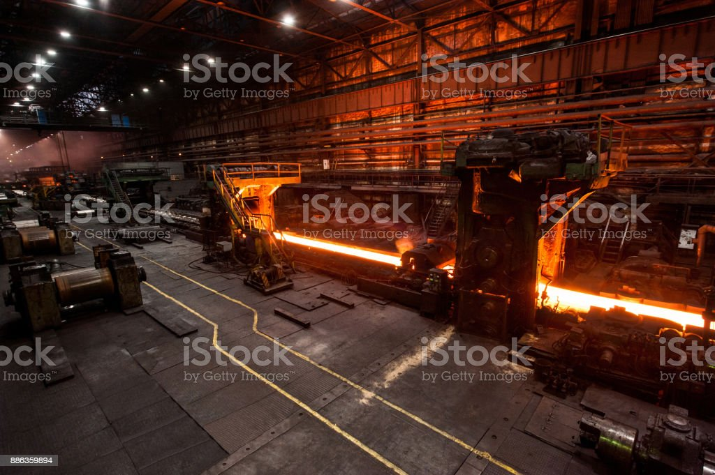The production process in the rolling mill The production process in the rolling mill Alloy Stock Photo