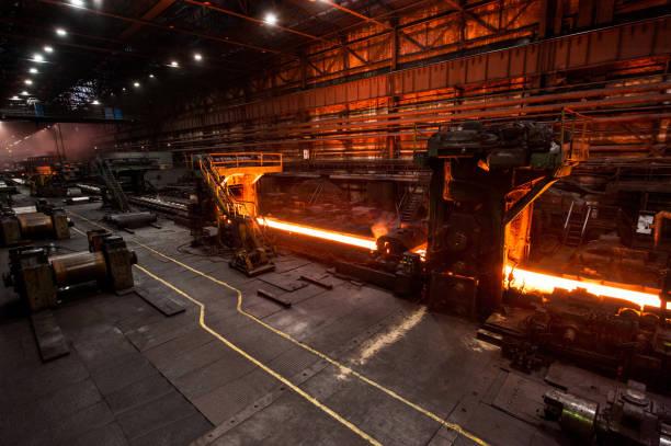 압 연기에서 생산 과정 - 제조 공장 뉴스 사진 이미지