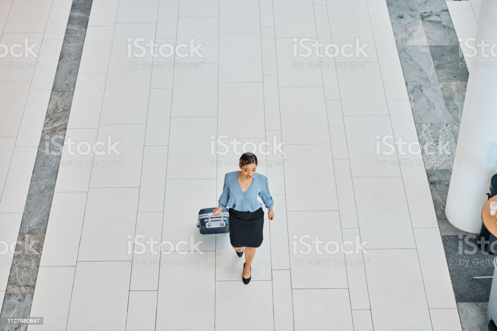 The professional has arrived stock photo