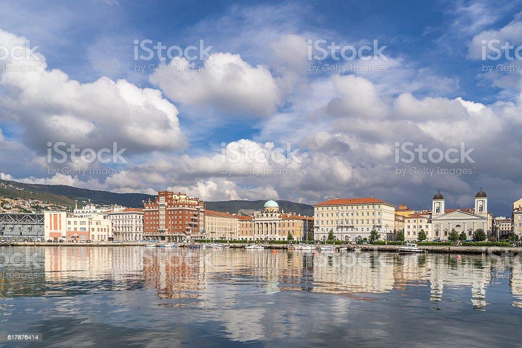 The promenade on Trieste waterfront stock photo