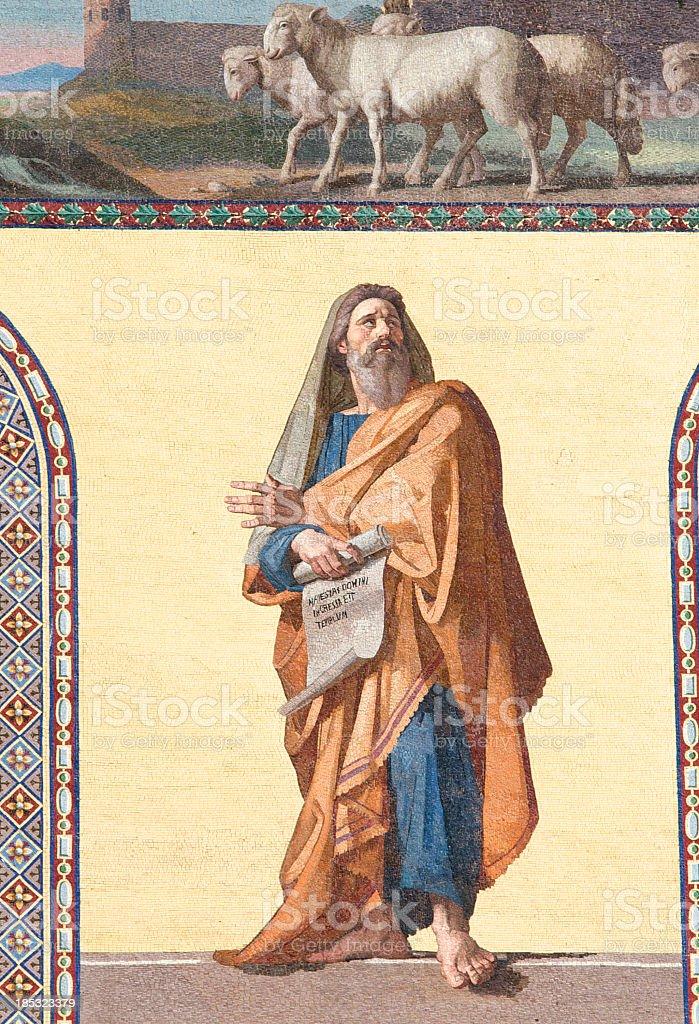 The prophet Geremia stock photo