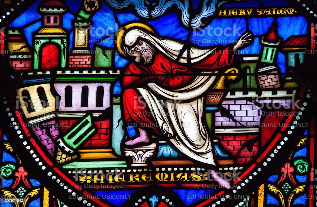 The prophet Jeremiah stock photo