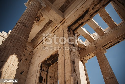 The Propylaea of the Acropolis in Athens, Greece