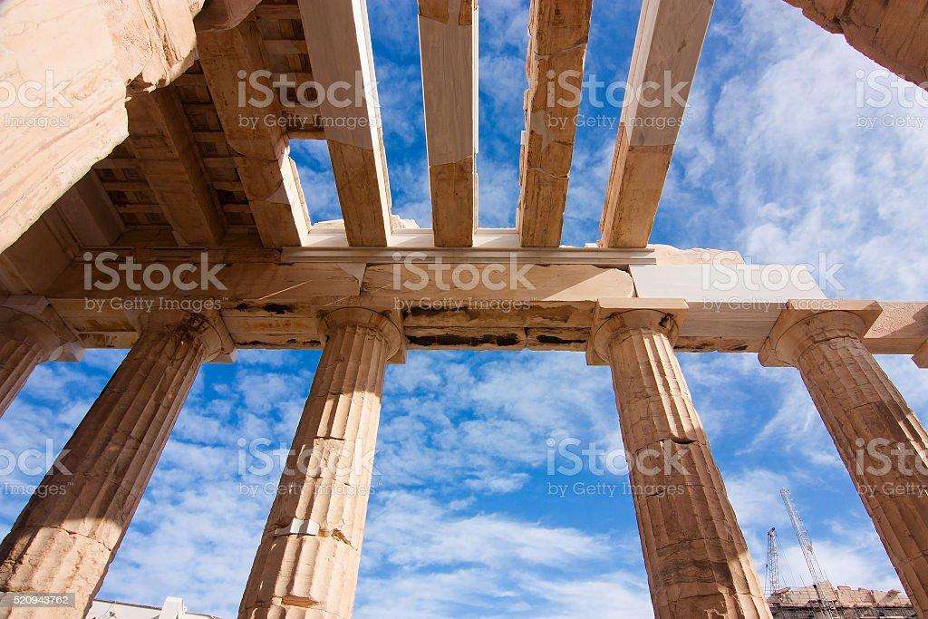 The Propylaea's roof stock photo