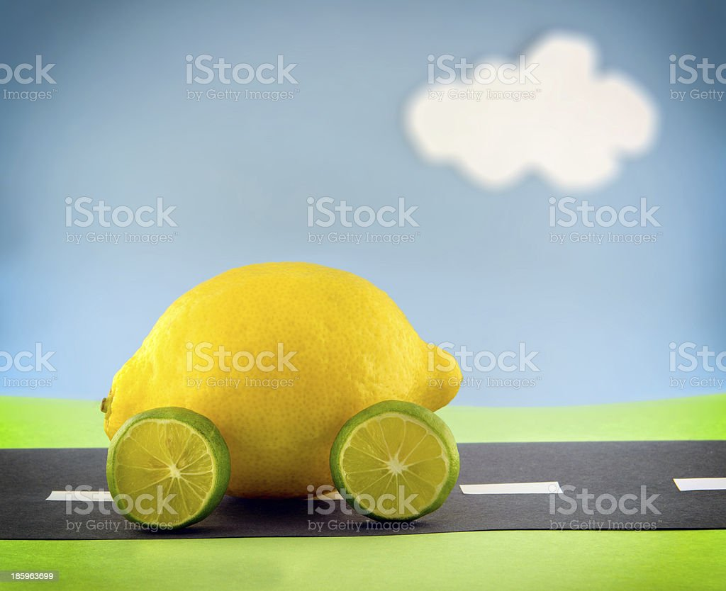 The Proverbial Lemon (vignette) stock photo