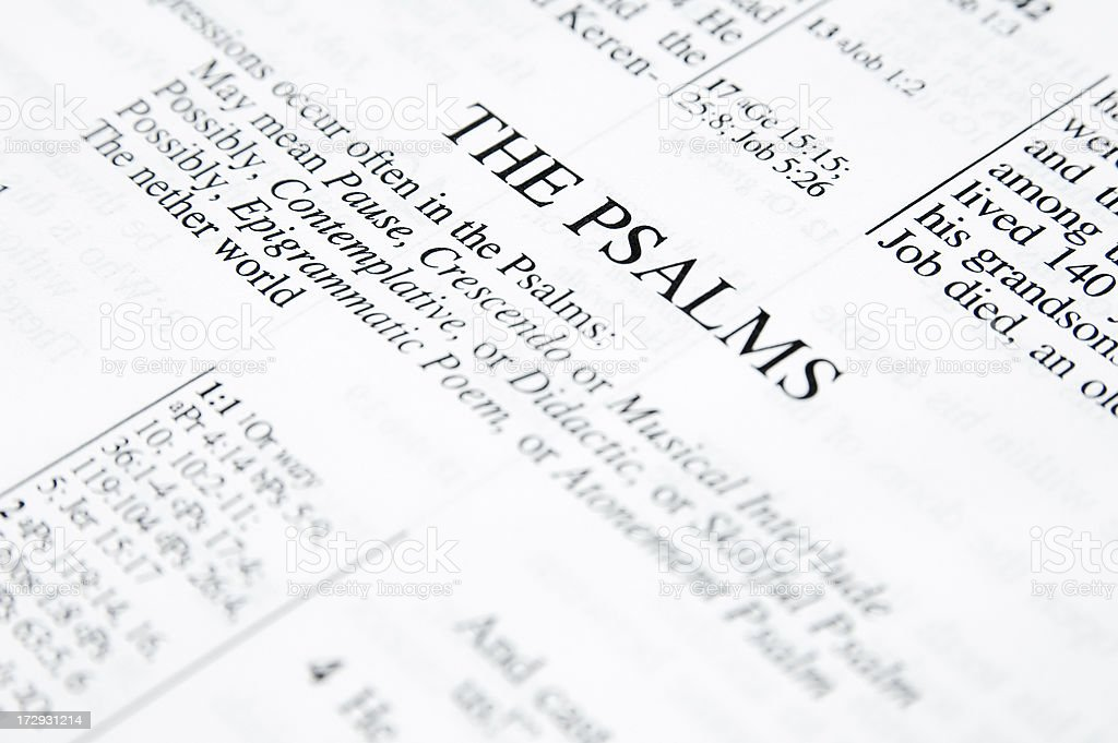 The Psalms royalty-free stock photo