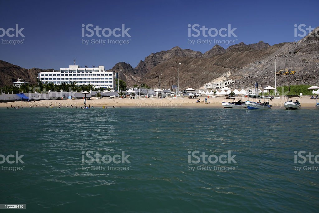 The public beach stock photo