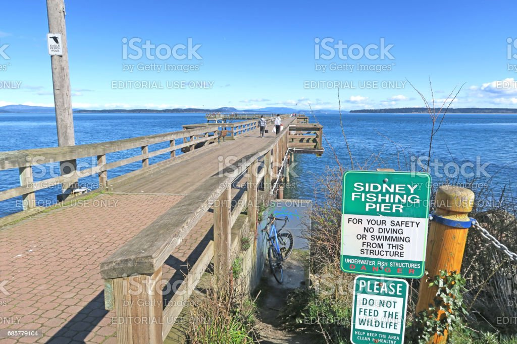 The public park, pier, and walkway in Sydney royalty-free stock photo