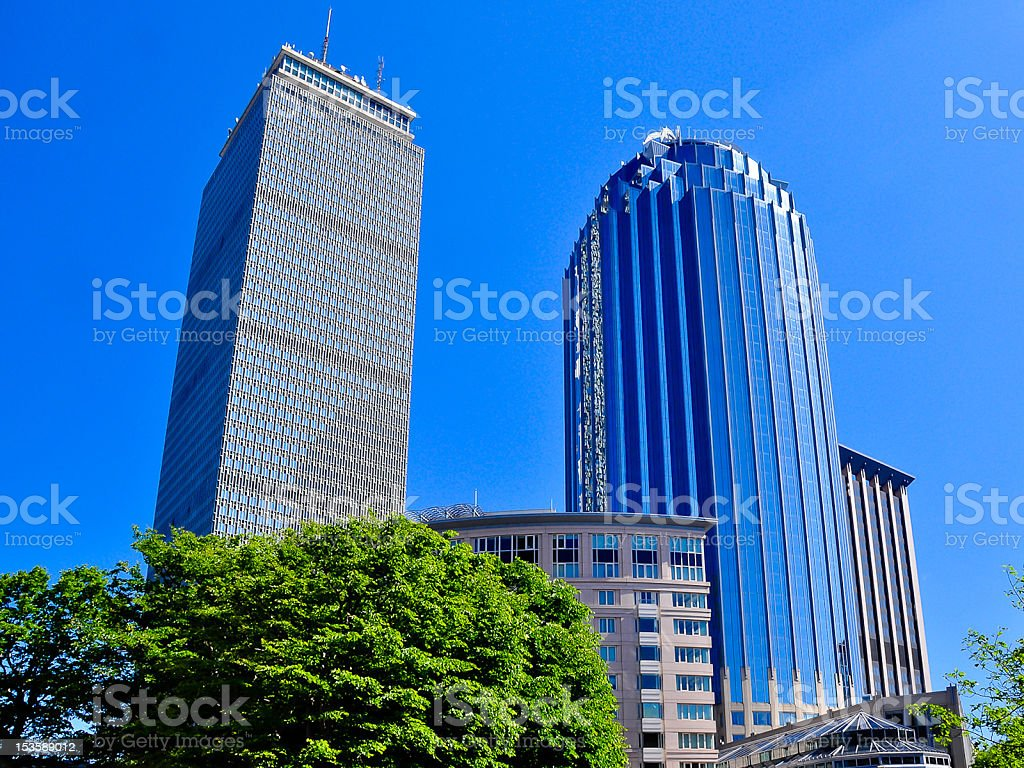 The Pudential tower stock photo