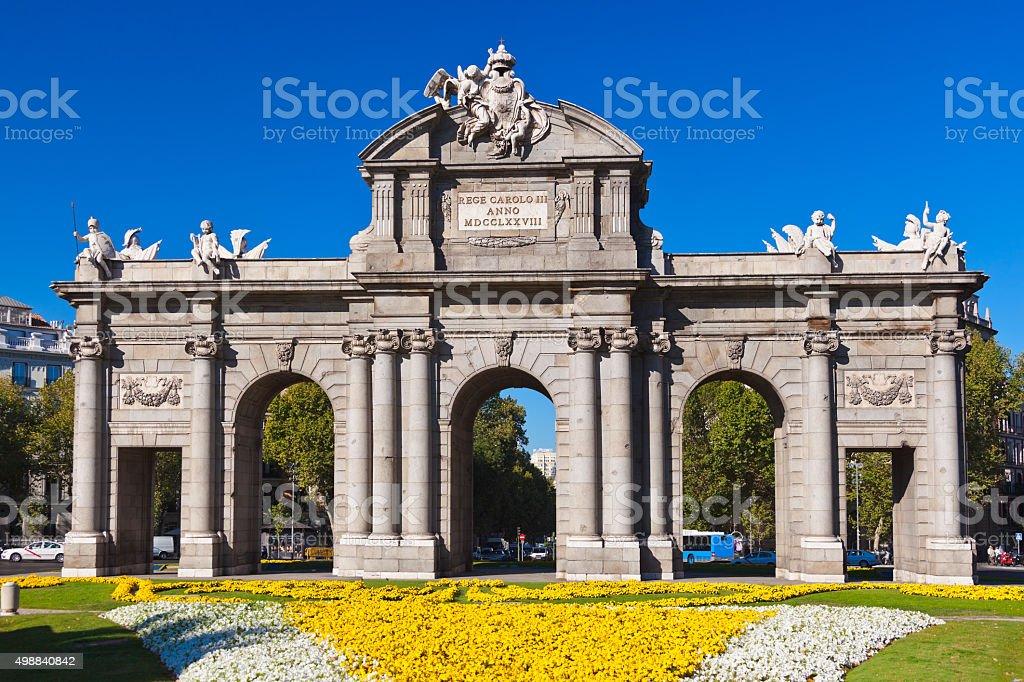 The Puerta de Alcala - Madrid Spain stock photo