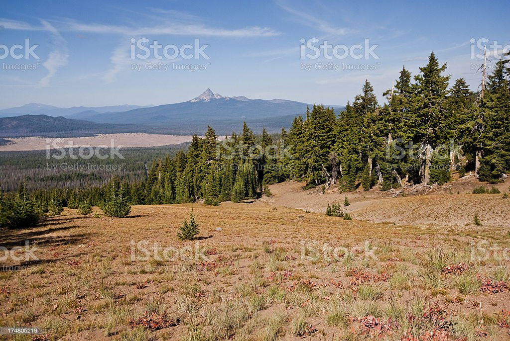 Mount Thielsen and Pumice Desert royalty-free stock photo