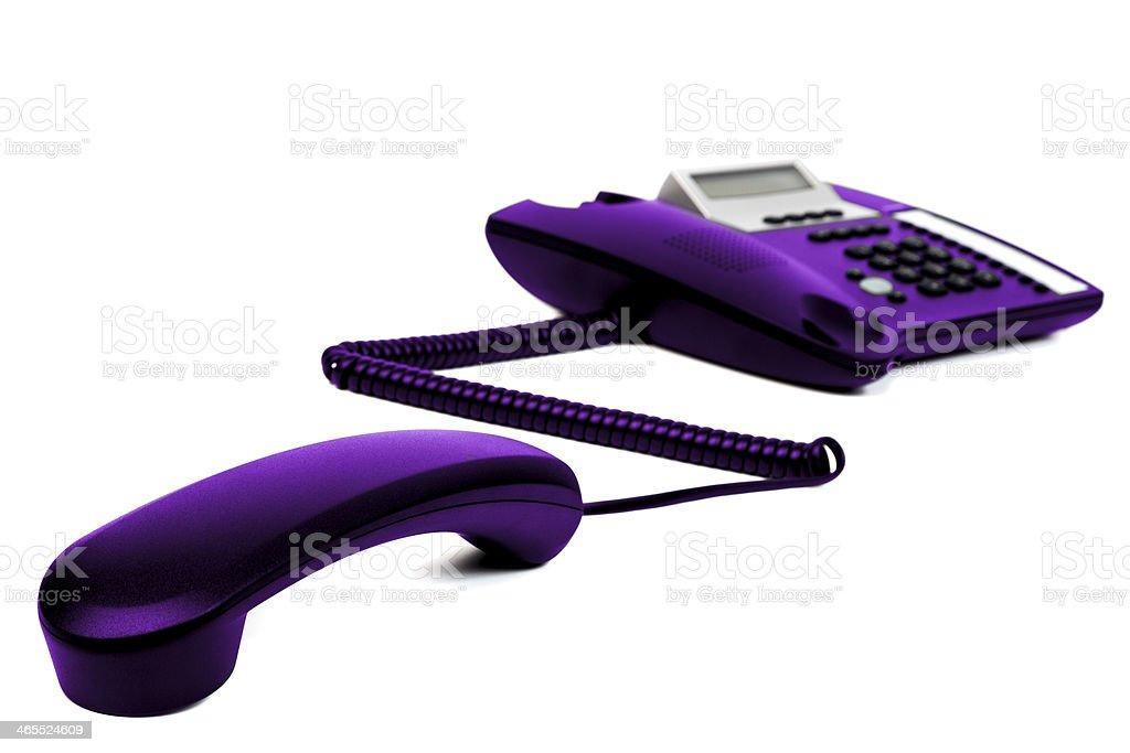 The Purple  Telephone stock photo