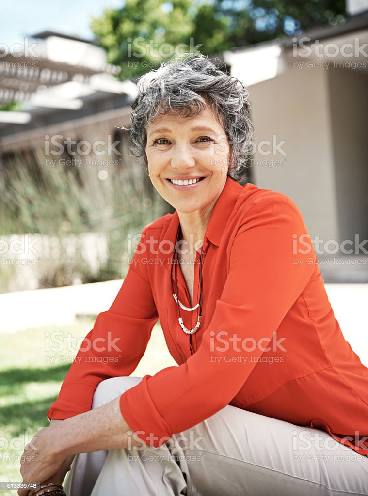The purpose of our lives is to be happy stock photo