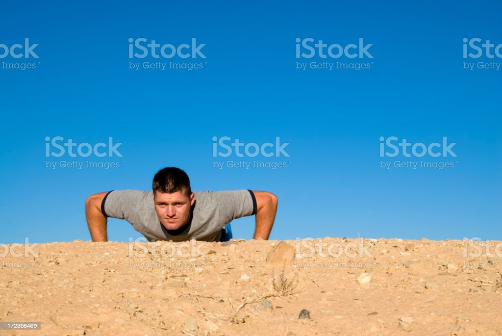 The Pushup. royalty-free stock photo