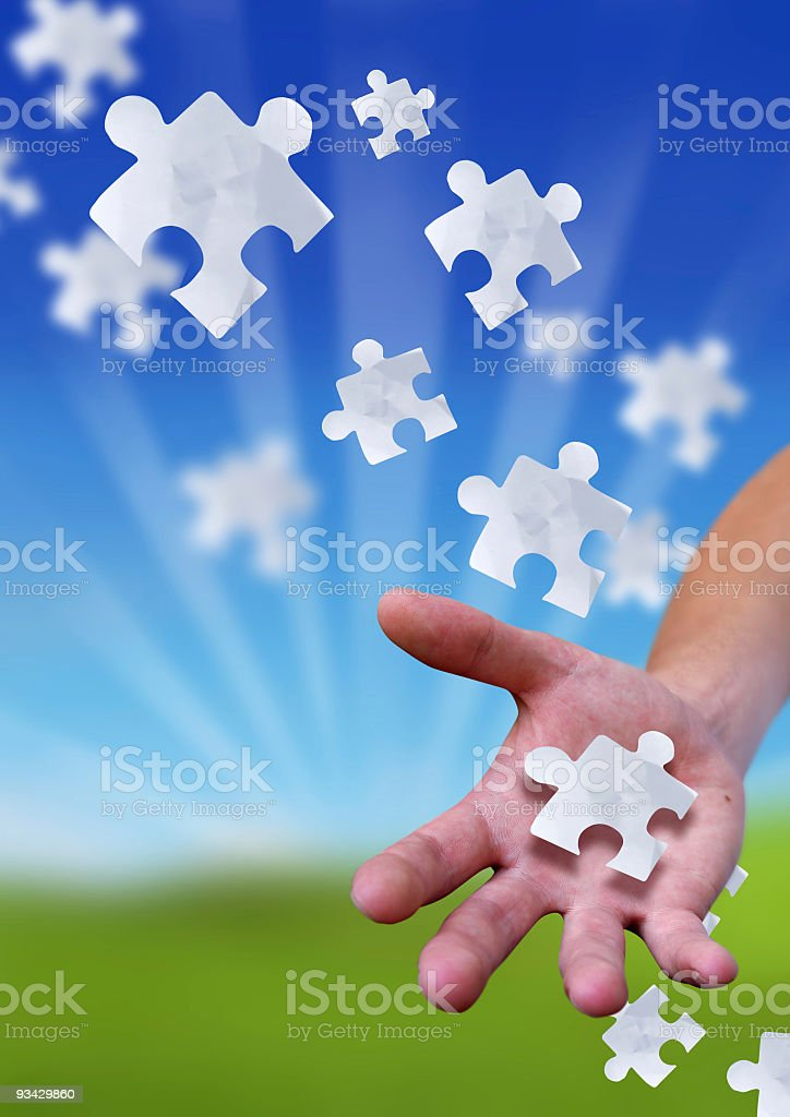 The Puzzling Link royalty-free stock photo