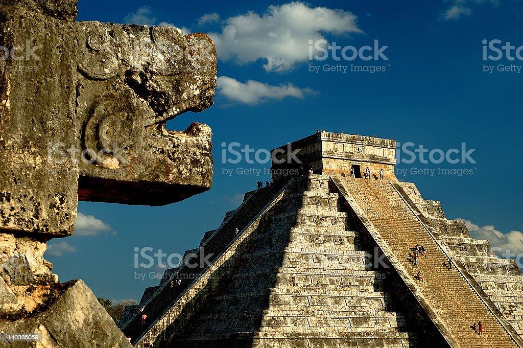 The pyramid at Chichen Itza royalty-free stock photo