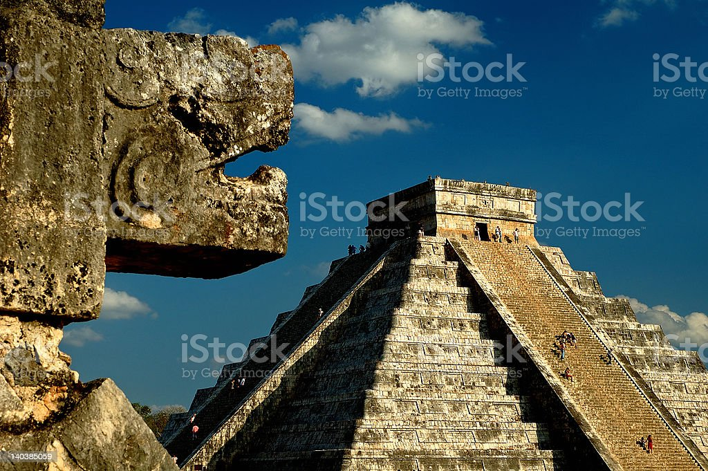 The pyramid at Chichen Itza stock photo
