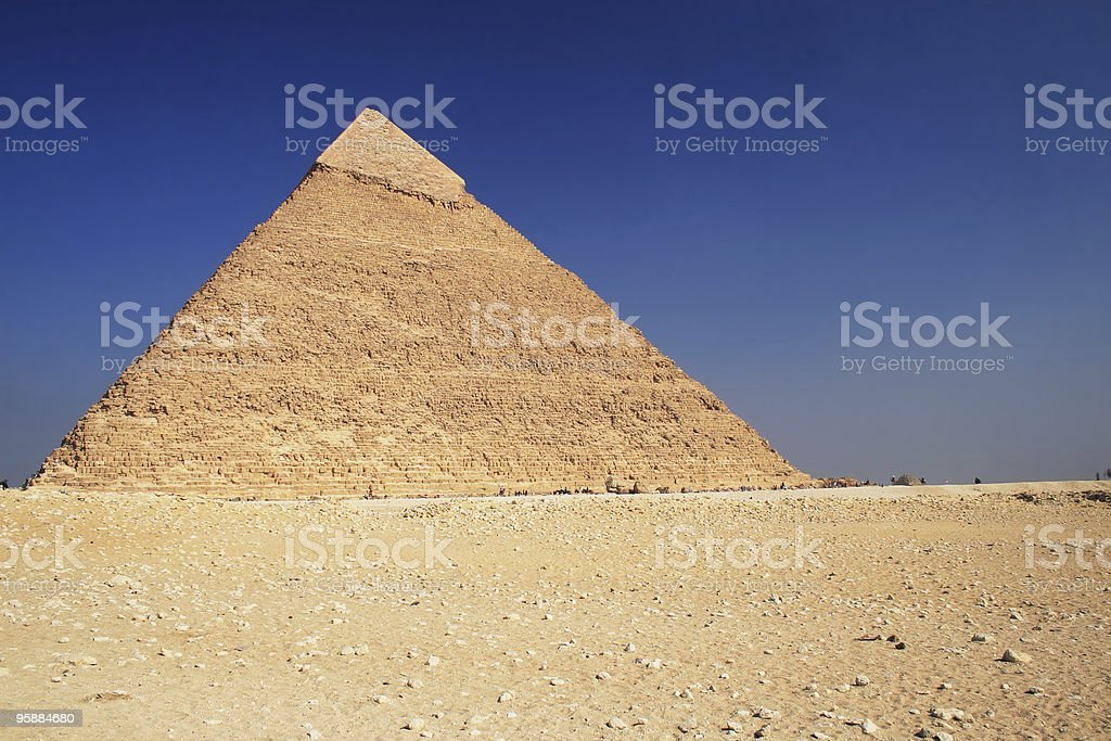 The Pyramid in Cairo stock photo