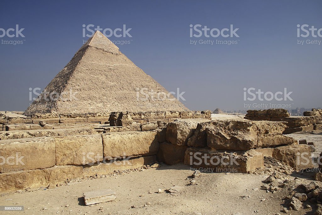 The Pyramid in Egypt stock photo