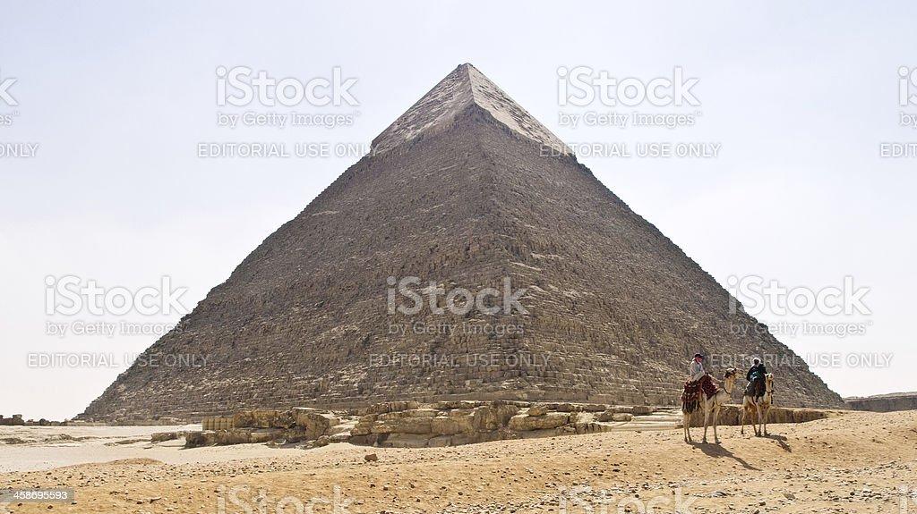 The pyramid of Chephren royalty-free stock photo