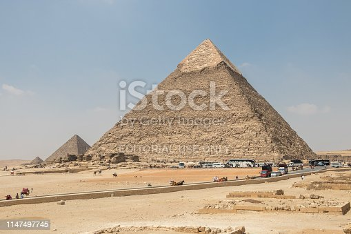 The Great Pyramid of Giza is a defining symbol of Egypt and the last of the ancient Seven Wonders of the World. It is located on the Giza plateau near the modern city of Cairo in Egypt