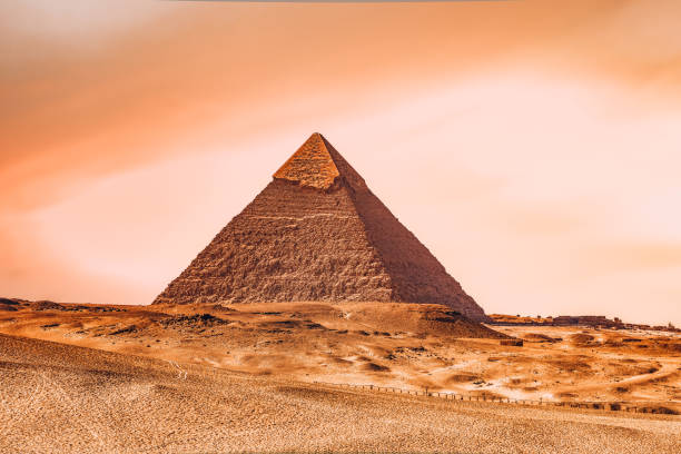 The Pyramid Of Khafre, Giza, Egypt stock photo